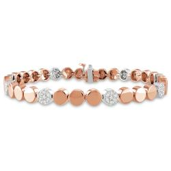 Miadora 14k Pink Gold 1/2ct TDW Diamond Stackable Bracelet (G-H, SI1-SI2)