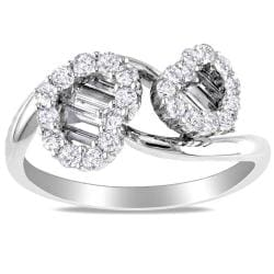 Miadora 18k White Gold 7/8ct TDW Diamond Heart Ring (G-H, SI1-SI2)