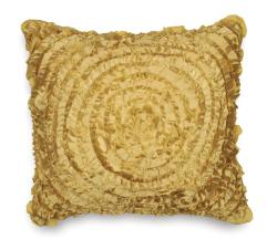 Victoria Dupioni Silk Gold Throw Pillow
