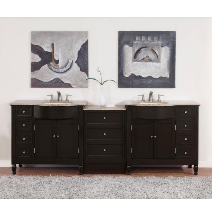 design element two london 54 inch single sink vanity set in espresso