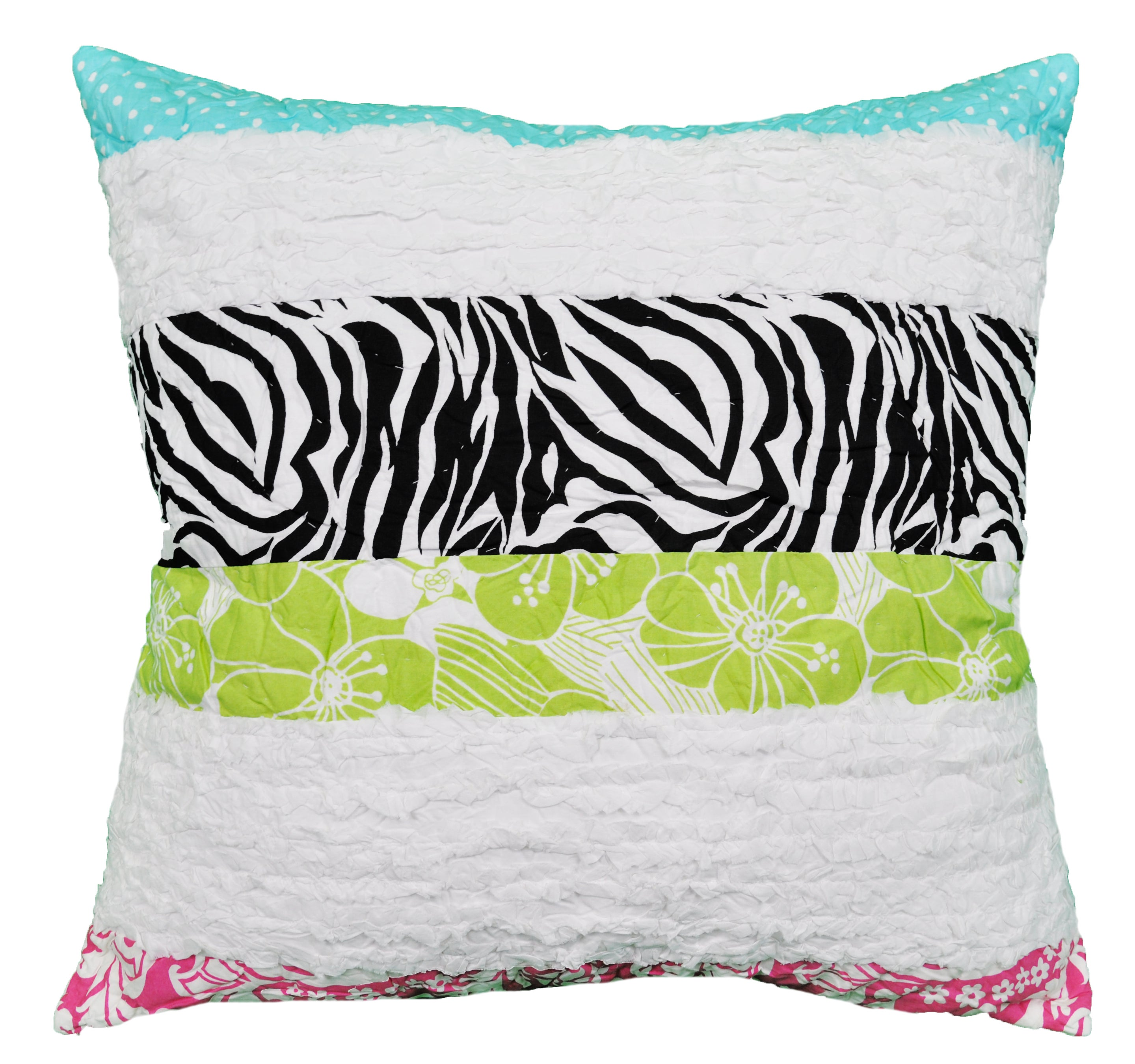 Lacey's Striped Ruffle Decorative Pillow