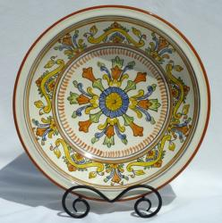 Sauvage Design Ceramic 14-inch Serving Bowl (Tunisia)