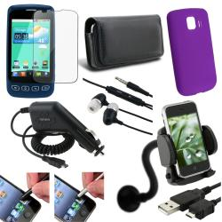 9-piece Accessory Case/ Charger/ Headset/ Cable for LG Optimus LS670