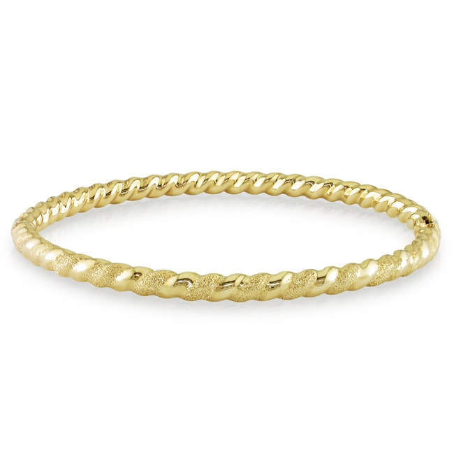 Miadora 14k Yellow Gold Twisted Bangle Bracelet