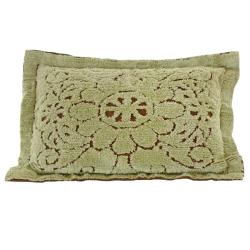 Jessica Chenille Mint/ Chocolate King Sham
