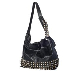WE-GO by Mania Soft Leather Studded Bucket Bag