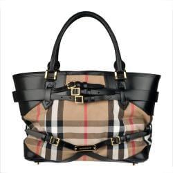 Burberry Medium Bridle House Check Tote Bag