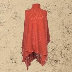Orange Organic Cotton Poncho