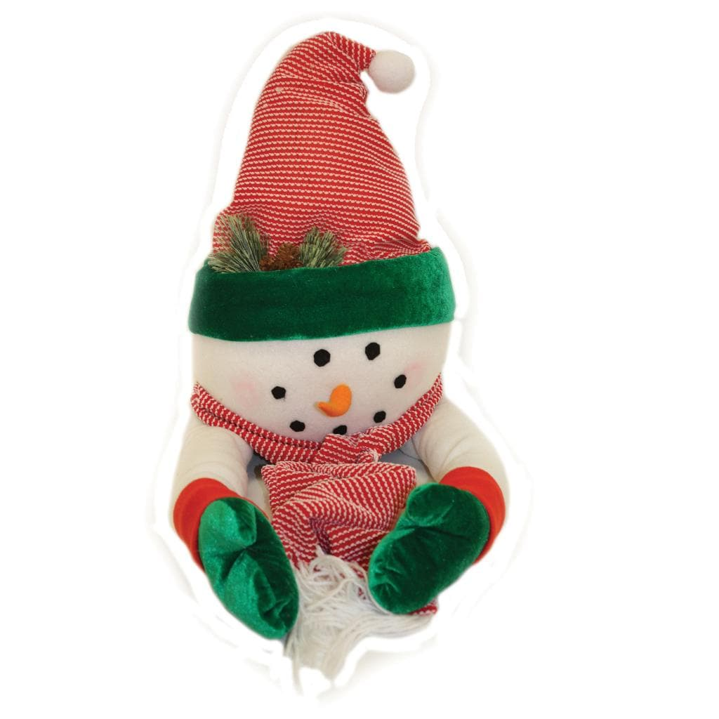 Good Tidings Snowman Fabric with Scarf Tree Topper