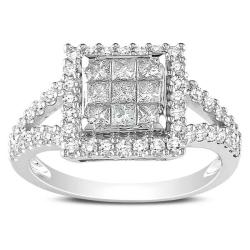 Miadora 14k White Gold 1ct TDW White Diamond Ring (G-H, I1-I2)