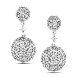 Miadora 14k White Gold 1ct TDW White Diamond Dangle Earrings (G-H, SI)