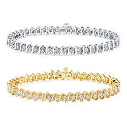 14k Gold 3ct TDW Diamond Tennis Bracelet (J-K, I2-I3)