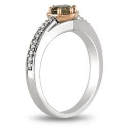 Miadora 14k Two-Tone Gold 1/2ct TDW Brown and White Diamond Ring (H-I, I1-I2)