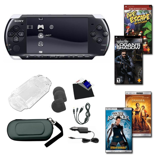 Sony PSP-3000 2 Game 2 UMD Bundle with Accessories