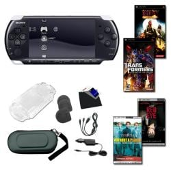 Sony PSP-3000 2 Game Action Bundle with Accessories