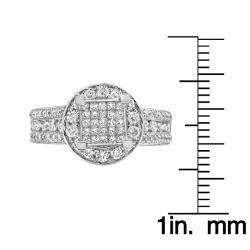 14k White Gold 3 2/3ct TDW Diamond Ring (G-H, I1-12)