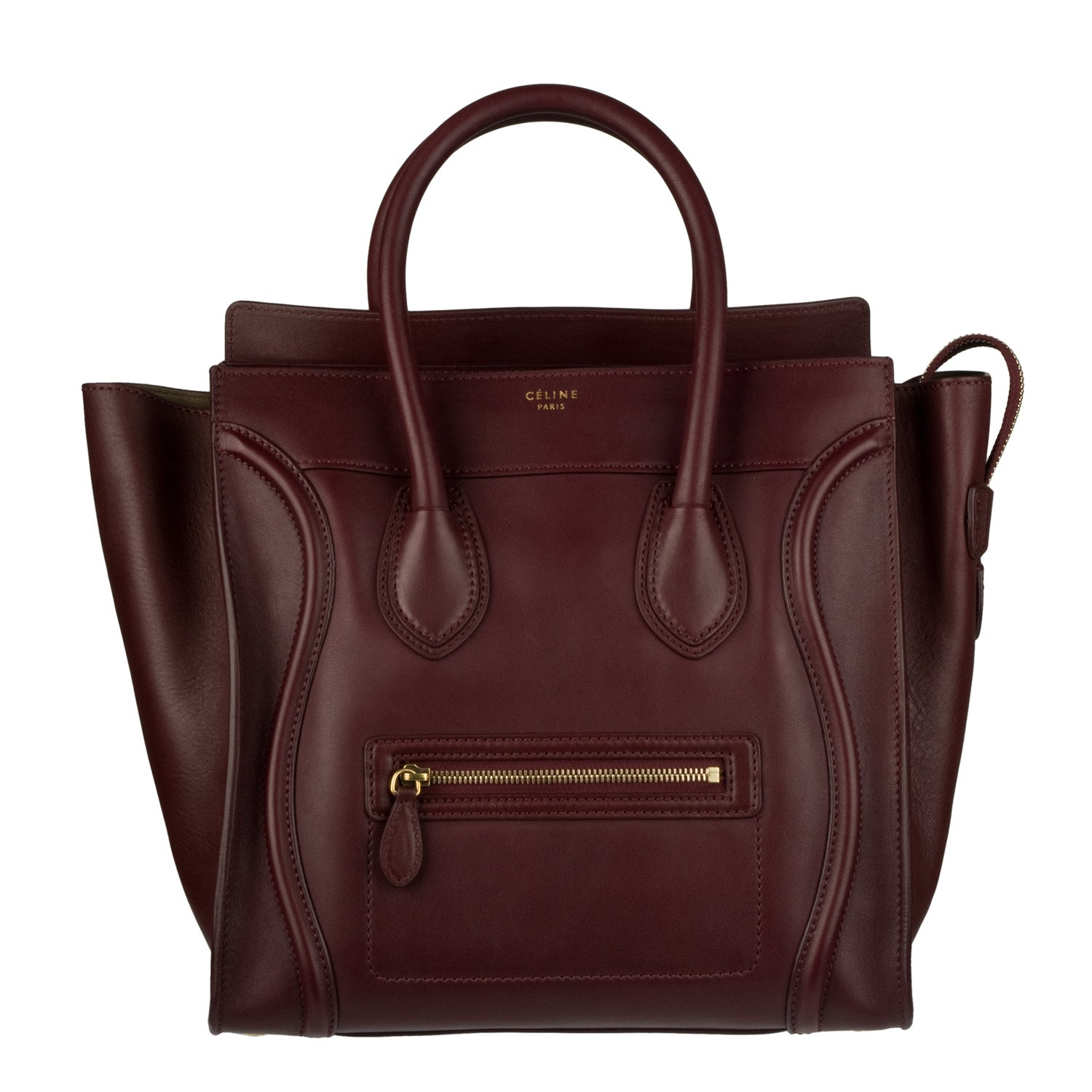 celine bags prices - Celine Burgundy Mini Luggage Tote Bag - 13956661 - Overstock.com ...