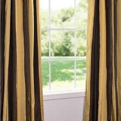 Exclusive Fabrics Vintage Romance Faux Silk Taffeta Striped 96-inch Curtain Panel