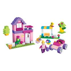 Micro Bloks Pink Scoop 'n Build Bucket Play Set