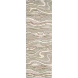 Candice Olson Hand-tufted Zagros Abstract Waves Wool Rug (2'6 x 8')