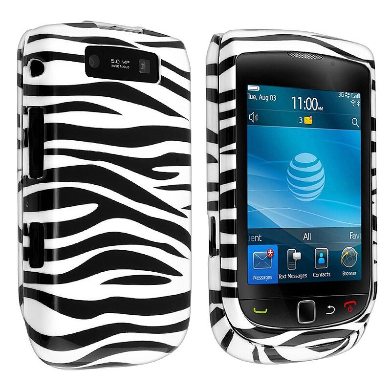 Black/ White Zebra Snap-on Case for BlackBerry Torch 9800/ 9810