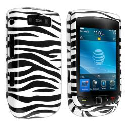 Black/ White Zebra Snap-on Case for BlackBerry Torch 9800/ 9810