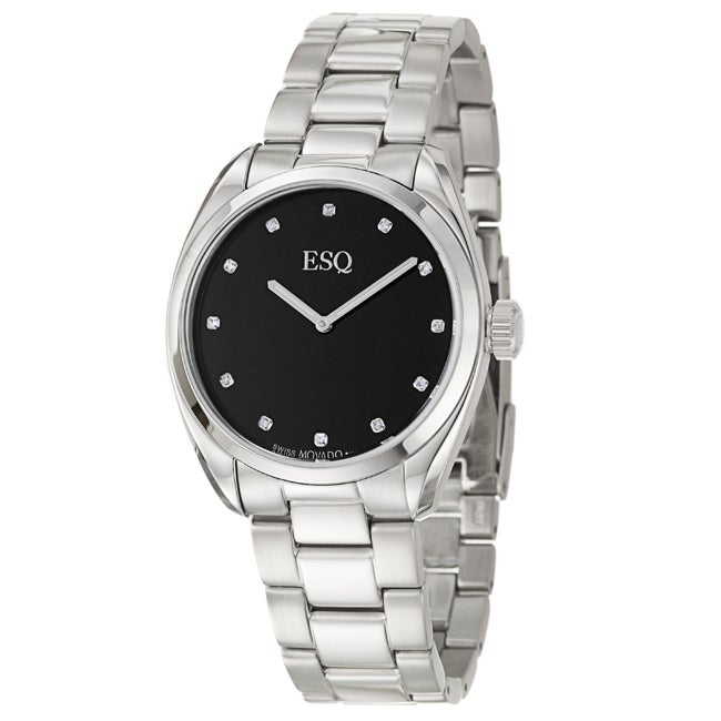 ESQ by Movado Men's 'Sport Classic' Stainless Steel Diamond Quartz Watch