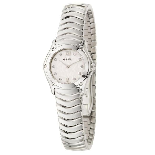 Ebel Women's 'Classic Wave' Stainless Steel Diamond Quartz Watch