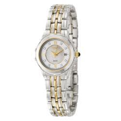 Seiko Women's 'Le Grand Sport' Stainless and Yellow Goldplated Steel Diamond Quartz Watch