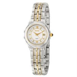 Seiko Women's 'Le Grand Sport' Stainless and Yellow Goldplated Steel Quartz Watch