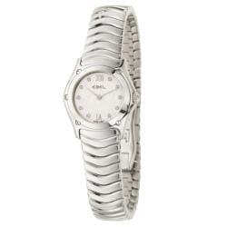 Ebel Women's 'Classic Wave' Stainless Steel Diamond Quartz Watch