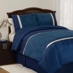 Lush Decor Royal Blue Animal Plush Full-size 4-piece Comforter Set