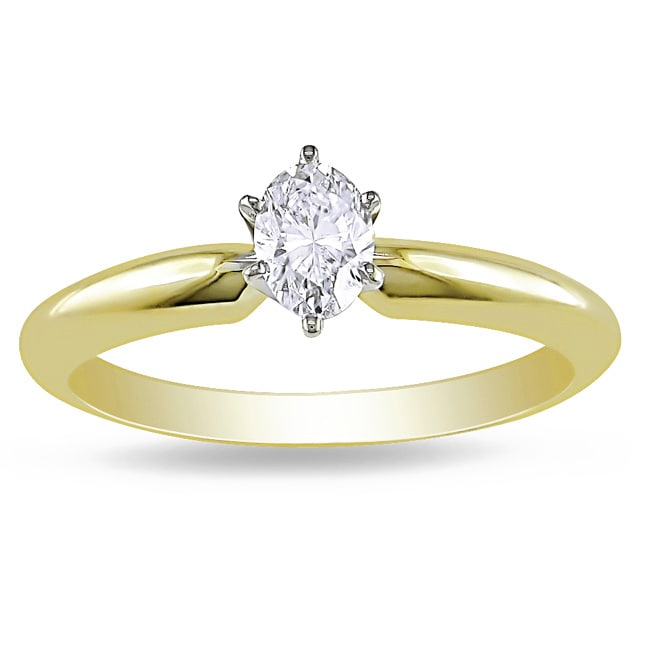 Miadora 14k Gold 1/3ct TDW Diamond Solitaire Ring (G-H, I1)
