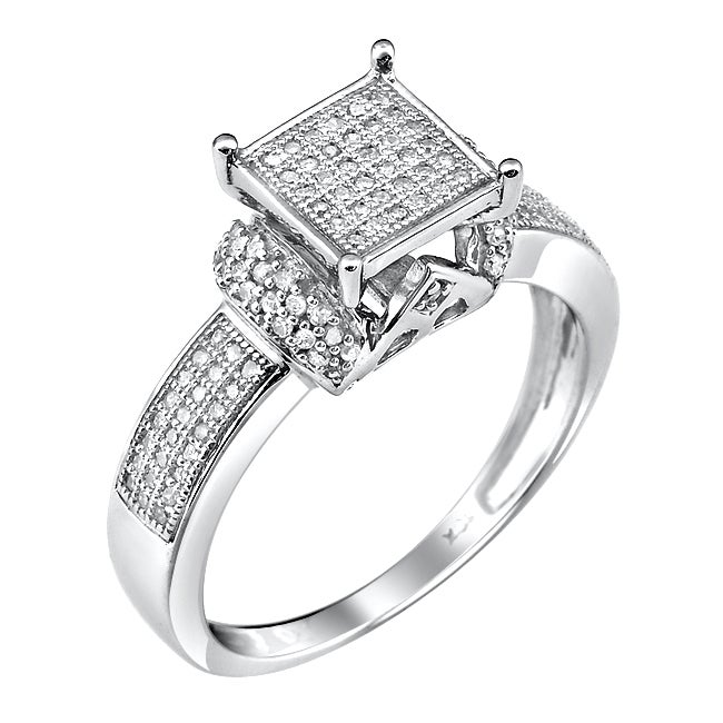 10k White Gold 1/3ct. TDW White Diamond Ring (G-H, I1-12)