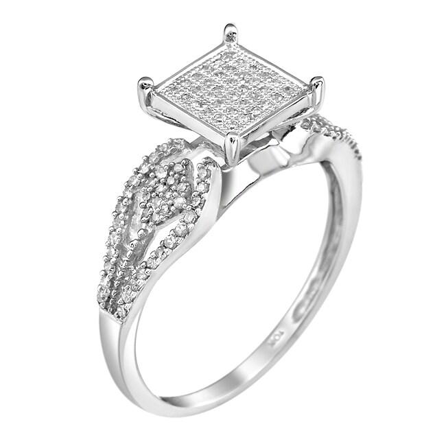 10k White Gold 1/3ct TDW White Diamond Ring (G-H, I1-I2)