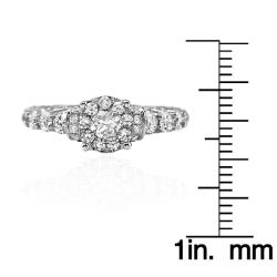 14k White Gold 2 1/5ct. TDW White Diamond Ring (G-H, I1-I2)
