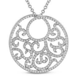 Miadora Signature Collection 18k White Gold 7/8ct TDW Diamond Necklace (G-H, SI1-SI2)