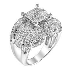 14k White Gold 2 1/4ct. TDW White Diamond Ring (G-H, I1-I2)