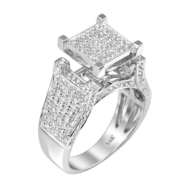 14k White Gold 1ct TDW White Diamond Ring (G-H, I1-I2)