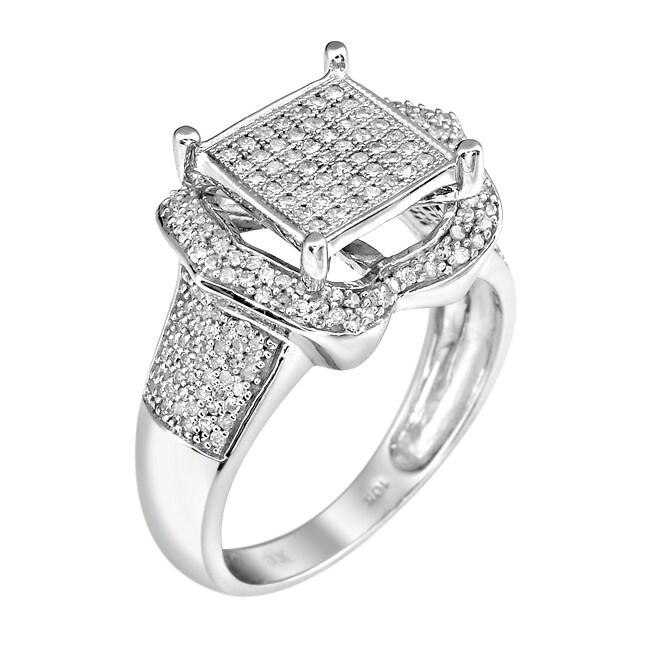 10k White Gold 2/3ct TDW White Diamond Ring (G-H, I1-I2)