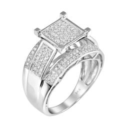 14k White Gold 3/4ct. TDW White Diamond Ring (G-H, I1-I2)