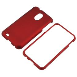 Red Snap-on Rubber Coated Case for Samsung Epic 4G Touch D710