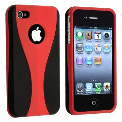 Red/ Black Cup Shape Snap-on Case for Apple iPhone 4
