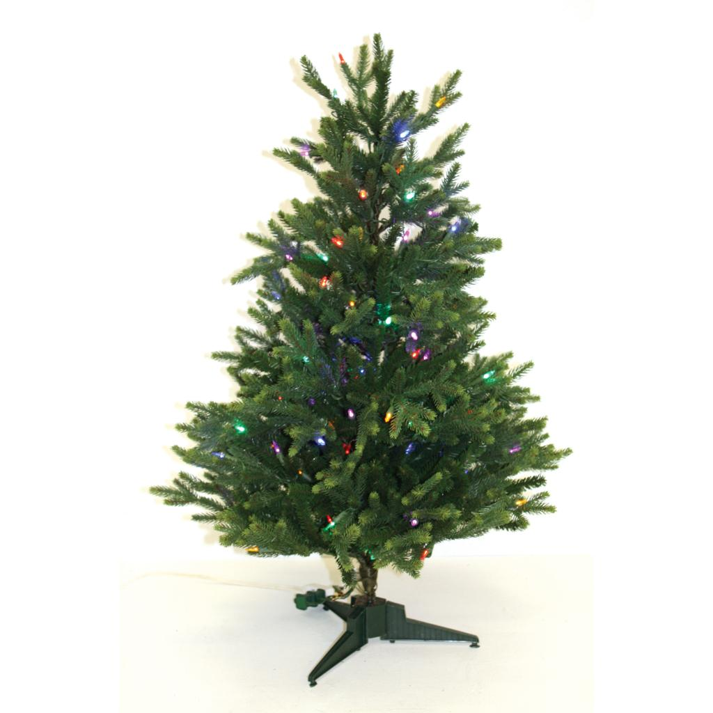 Good Tidings 3 foot Tabletop LED 110 Multi Colored Lights Christmas
