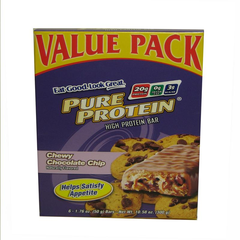 Pure Protein High Protein Bar Chewy Chocolate Chip 1.76-ounce (48 bars)