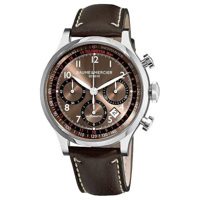Baume & Mercier Men's M0A10002 'Capeland' Automatic Chronograph Watch with Brown Dial