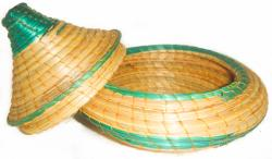Green Wicker Basket (Ethiopia)