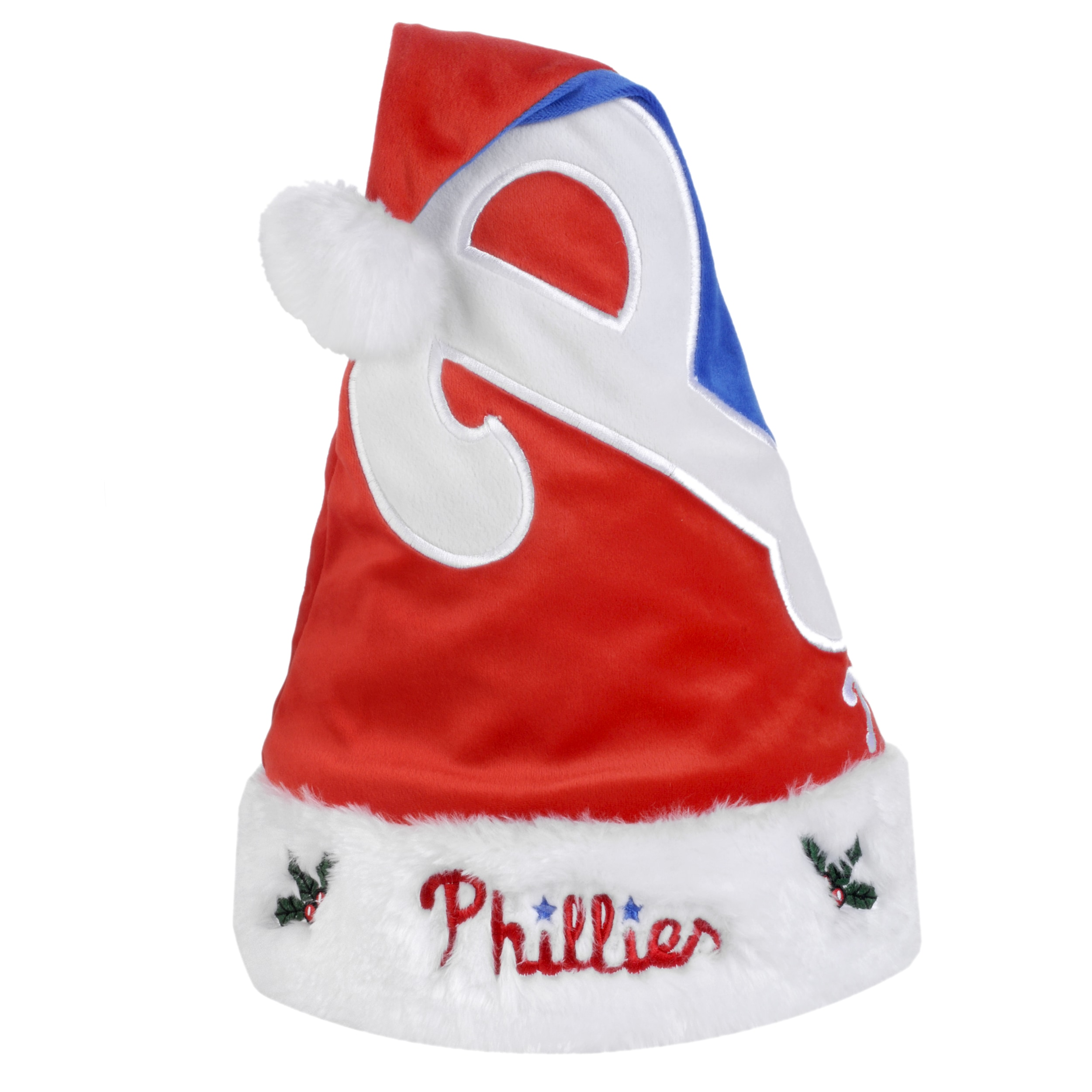 Philadelphia Phillies 2011 Colorblock Runoff Logo Santa Hat