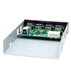 SYBA 4-Port USB 3.0 Internal Hub for 3.5-inch/ 5.25-inch Bay HUB20076