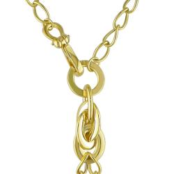 Miadora 18k Yellow Gold Oval Textured Gold Charms Necklace
